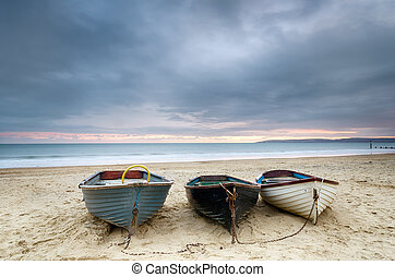 Boats at Durley Chine - Boats at Durley chine on Bournemouth...