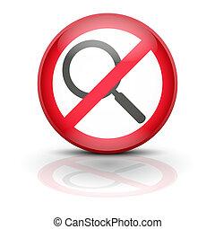 símbolo,  anti,  spyware, Ilustración, icono