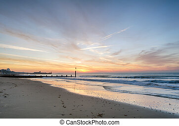 Bournemouth Beach - Sunrise at Durley Chine on Bournemouth...