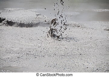 Mud volcano erruption