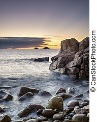 Porth Nanven Cove - The beach at Cot Valley near St Just in...