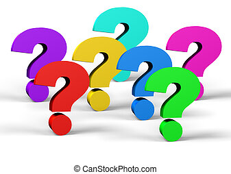colorful question mark symbol  on a white background