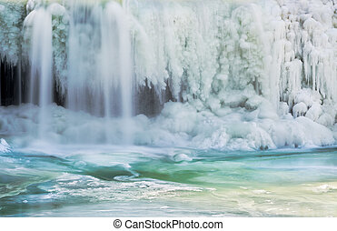 Icy Waterfall - Upper Cataract Falls, a waterfall in...