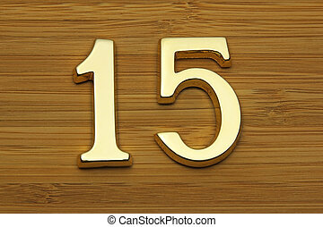 number fifteen, house address plate number