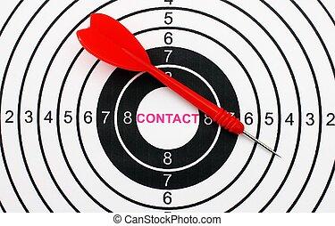 Contact target