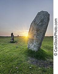 el, Hurlers, piedra, círculo