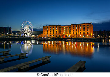 Albert dock, liverpool England - The Albert Dock is a...