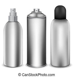 Spray bottles - Three different spray bottlesVector...