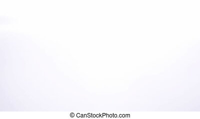 Couple standing and kissing on white background
