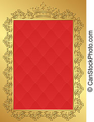 royal background with vintage frame