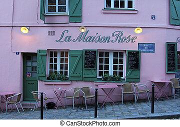 La Maison Rose restaurant on Montmartre in Paris - La Maison...