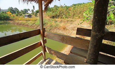Natural water sources in rural are. bungalo jib shot.