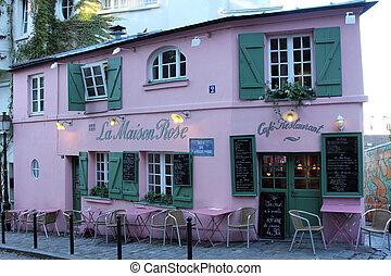 La Maison Rose restaurant on Montmartre in Paris