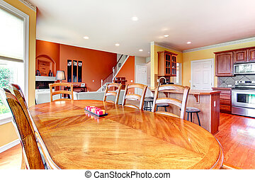 Interior design for kitchen, dining and livign room...
