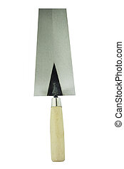 lute trowel - perspective of isolated of lute trowel tool...