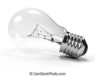 Light bulb - 3d rendered illustration of a light bulb