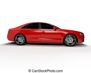 Sport sedan - Illustration of a concept sports sedan