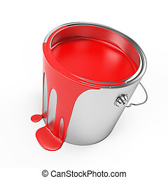 Paint bucket - 3d rendered illustration of a paint bucket