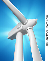 Wind mill - 3d rendered illustration of a wind mill