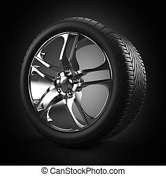Rim - 3d rendered illustration of wheel