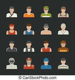 Sport people icon , eps10 vector format
