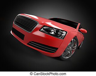 Sport sedan - Illustration of a concept sports sedan