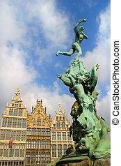 The Grote Markt Antwerp Belgium