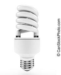 Light bulb - 3d illustration of an energy saving light bulb