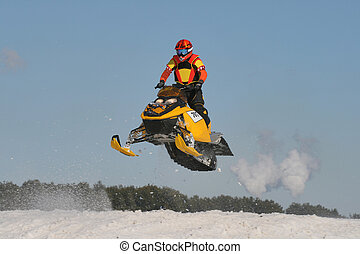 Snowmobile Racing - There is High long jump