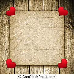 valentine background - Valentine's day background, old paper...