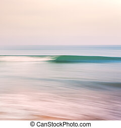 Retro Wave - An abstract seascape with blurred panning...