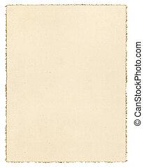 Vintage Deckled Paper