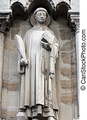 Saint Stephen - Statue of Saint Stephen, Notre Dame...