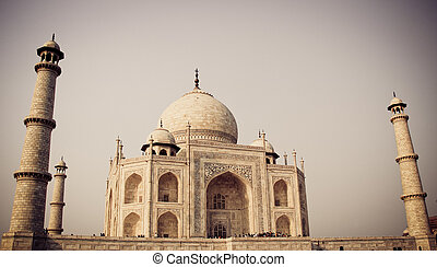 Taj Mahal, Agra, India in evening view