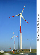 Wind generator producing electricity