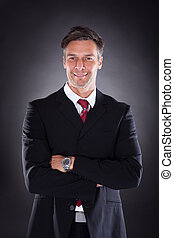 Happy Mature Businessman - Portrait Of Happy Mature...