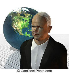 John McCain 3d model on a white