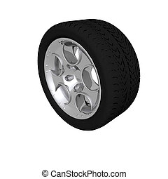 tire wheel isolated on a white background