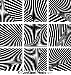 Set of backdrops in striped design. - Set of abstract...