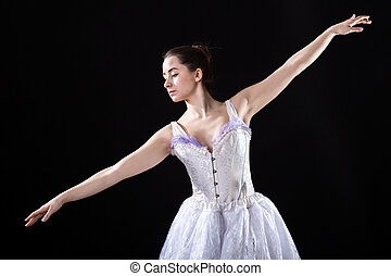 Ballerina - Graceful ballerina with beautiful arms during...