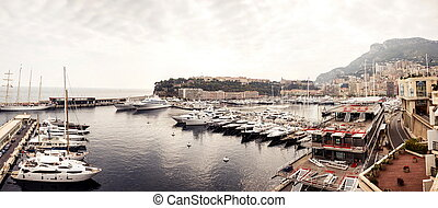Marina of Monte Carlo in Monaco, French Riviera