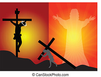 esus crucifixion and resurrectio - Crucifixion and...
