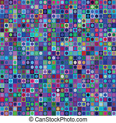 Abstract geometric mosaic rectangle seamless pattern, vector...