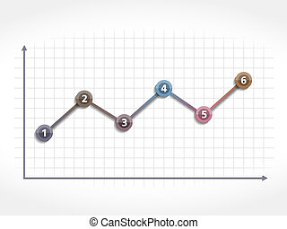 Line Chart - Abstract line chart, vector eps10 illustration