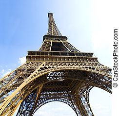The Eiffel Tower Paris France.