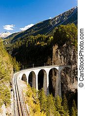 Landwasserviadukt, canton Graubunden, Switzerland