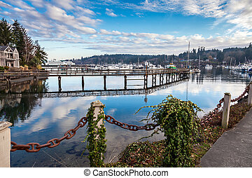 Bainbridge Island - Bainbridge, USA, JANUARY 2014: Yacht...