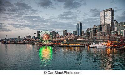 contorno, Seattle, tarde