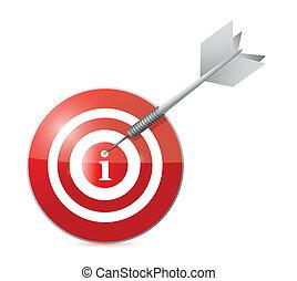 target info illustration design