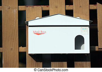 Letter box house. - Letter box in the front of the house.